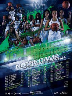 Notre Dame Women's Basketball Poster (2013-2014)