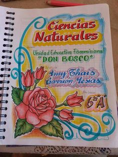 Ciencias Naturales File Decoration Ideas, Page Decoration, Page Borders Design, Border Design, Classroom Art Projects, Art Classroom, Earth Science Projects, Flower Line Drawings, Environment Painting