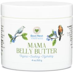 """100% Natural Belly Balm With Organic Ingredients - Stretch Mark Cream for Pregnancy http://www.amazon.com/Best-Nest-Wellness-Pregnancy-Diminishes/dp/B0184WYAQ0/ref=sr_1_22?ie=UTF8&qid=1453153257&sr=8-22&keywords=belly+butter """"This Mama Belly Butter feels amazing. I love all the natural ingredients and the essential oils...Very nice and soothing and has helped to ease so much of my irritated skin. I really like that the ingredients are organic as well."""" - SLS Amazon Customer 1/17/16"""