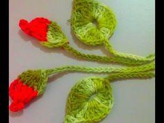 Botões Cordão e Folhas Para Aplicar na Capa do Galão de Água em Crochê Para aplicação - YouTube