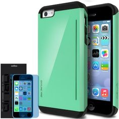iPhone 5C Case, Obliq [Kickstand Feature] iPhone 5C Case [Skyline Pro] [Emerald Mint] w/ HD Screen Protector - Premium Slim Fit Dual Layer Hard Case - Verizon, AT&T, Sprint, T-Mobile, International, and Unlocked - Case for Apple iPhone 5C Lite 2013 Model:Amazon:Cell Phones & Accessories