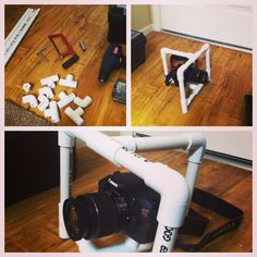 My new DIY camera rig! Saved liked $300 bucks! #diy #canon #film #pvc #smartninja