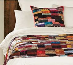 Velvet Patchwork Coverlet and Pillow - Pillows & Throws - Home Accessories - VivaTerra