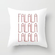 Throw Pillow made from 100% spun polyester poplin fabric, a stylish statement… #deckthehalls