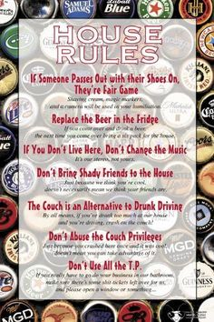 House Rules For A College Party Halloween Pinterest College