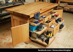 Dream Workbench, a modern bench that features storage, stability and mobility By Dave Munkittrick