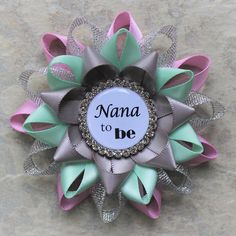 Hey, I found this really awesome Etsy listing at https://www.etsy.com/listing/465507819/gender-neutral-baby-shower-corsage-nana