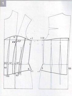 modello corpetto,corsetto steccato carta modello
