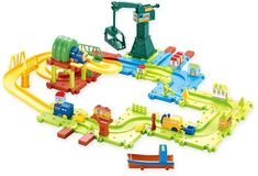 Your little conductor will be overwhelmed with excitement over the play options of the Toy Train Set from Hey! With 19 adjustable tracks and countless colorful accessories, this interactive train set offers endless fun and creativity. Train Sets For Toddlers, Popular Hobbies, Making A Model, Interactive Toys, Model Train Layouts, Creative Play, Train Tracks, Toot, Models