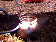home made solar water heater powered by a fresnel lense - YouTube