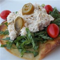 """Twisted Chicken Salad with Tostadas 