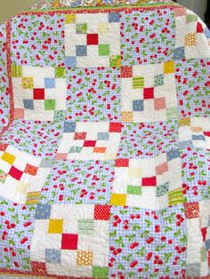 Child's Quilt  Nine PatchFree ShippingSale by QuiltAttic on Etsy, $84.00