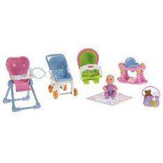 NEW Fisher Price Loving Family Dollhouse Nursery Baby Doll Zebra Feeding Bib