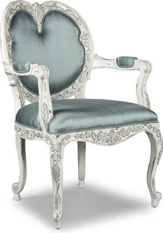 Arm Chair ALDEN PARKES Italian Renaissance Rub-Through Distressed Upholste AP-66