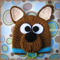 Scooby Doo Hat - Picture for Inspiration only (no pattern) Crochet Animal Hats, Crochet Kids Hats, Crochet For Boys, Crochet Crafts, Yarn Crafts, Crochet Clothes, Crochet Projects, Knitted Hats, Mode Crochet