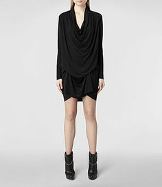 Robes AllSaints Femme Amel Long Sleeved Dress