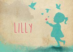 Geboortekaartje voor Lilly (15 april) door www.hierbenik.be