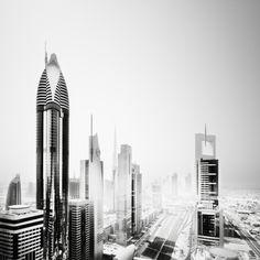 Dubai in Black and White / #bw #photography #architecture #dubai #night