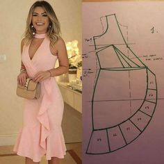 Alinti Diger sayfam - Salvabrani fashion Sewing - Make Your Own Clothes Fashion Sewing, Diy Fashion, Ideias Fashion, Fashion Dresses, Fashion Clothes, Diy Clothing, Sewing Clothes, Dress Sewing Patterns, Clothing Patterns