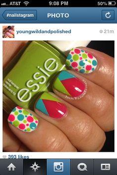 Nails..Love the Polka Dot Do for summer #nail http://pinterest.com/ahaishopping/