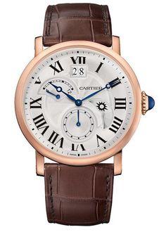 Cartier Rotonde de Cartier Segunda zona horaria Dia y noche Rosa Oro W1556240