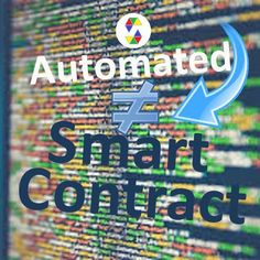 The reputation as a SMART is not proportional to the reality of these contracts and is not a proper name. The best name for them may be is the automated contract because the contracts are not… Artificial Intelligence Technology, Blockchain Technology, Computer Programming, Smart People, Cool Names, Initials, Platform, Coding, Change