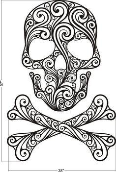 Un coloriage de tête de mort original :-) A vos crayons !