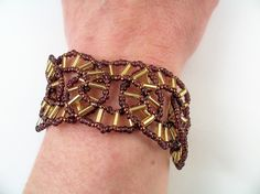Spokes Bracelet Pattern Beading Tutorial in PDF by zaneymay