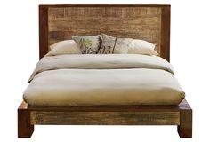 One Kings Lane - Rustic Meets Refined - Dakota Wood Bed, California King