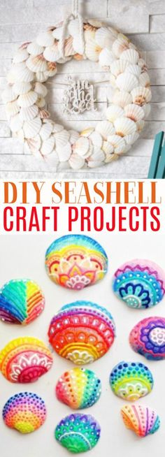 We have rounded up these amazing seashell craft projects for you  that you can make with them! Add some reminders of the beach to every room for  a touch of summer all year long. sponsored #diy #crafts #teencrafts #projects #diycrafts #diyprojects  #fundiys #funprojects #diyideas #craftprojects #diyprojectidea #teencraftidea Diy Projects For Teens, Diy For Teens, Crafts For Teens, Easy Diy Projects, Easy Crafts, Diy And Crafts, Craft Projects, Craft Ideas, Seashell Candles