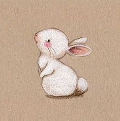 White on brown paper bunny drawing Art And Illustration, Rabbit Illustration, Bunny Art, Cute Bunny, Paper Bunny, Animal Drawings, Cute Drawings, Lapin Art, Rabbit Drawing