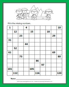 Learning Ideas - Grades Free Christmas 120 Chart Fill-in Fun Classroom Activities, Fun Math, Math Games, Christmas Math Worksheets, Christmas Activities, 120 Chart, Math About Me, Math Numbers, Math Workshop