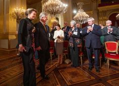 Queen Mathilde and King Philippe of Belgium attend the Christmas...