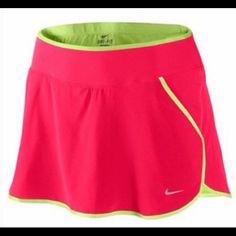Nike dri fit skort szL Nike fri-fit skort with shorts under sz L excellent condition Nike Skirts