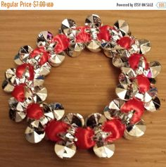 Love and Hip Hop and Basketball wives inspired silver and red bracelet
