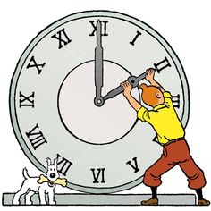 changing of the hour - tintin & snowy Comic Movies, Comic Book Characters, Comic Books, Tin Tin Cartoon, Herge Tintin, Fictional Heroes, Old School Tattoo Designs, Ligne Claire, Animation Series