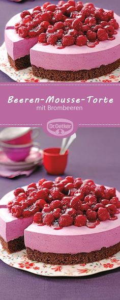 Passend zu der Pantone Trendfarbe Spring Crocus: Beeren-Mousse-Torte – Eine luft… Matching Trendy Color of Pantone Spring Crocus: Berry Mousse Cake – An Airy, Creamy Blackberry Cake for the Coffee Table Cupcakes, Cake Cookies, Cupcake Frosting, Holiday Cakes, Holiday Desserts, Torte Au Chocolat, Cupcake Recipes, Dessert Recipes, Blackberry Cake