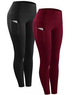 d896e33521a18 Neleus 2 Pack Tummy Control High Waist Running Workout Leggings,9017,2 Pack,