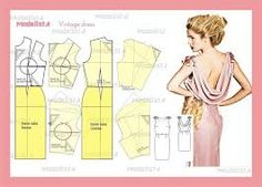 Image result for back cowl neck top or dress