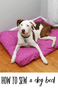 Sew a simple dog bed with a zipper in an afternoon with this easy beginner tutorial! Also includes tips for how to make custom fabric - kids can help draw designs to make unique fabric, with the new JOANN customizer fabric design program. #ad #sewing #crafts #handmadewithjoann Easy Sewing Projects, Sewing Tutorials, American Crafts, Learn To Sew, Free Sewing, Dog Bed, Custom Fabric, Fabric Design, Dogs