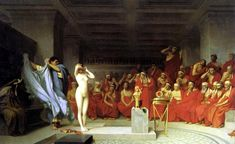 Jean Leon Gerome Phryne Before The Areopagus print for sale. Shop for Jean Leon Gerome Phryne Before The Areopagus painting and frame at discount price, ships in 24 hours. Cheap price prints end soon. Aphrodite, Der Richter, Jean Leon, Gauguin, Rainer Maria Rilke, Classic Paintings, Beautiful Paintings, Norman Rockwell, Romanticism