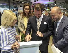 Prince Félix and Princess Claire Attend a Spring Fair Luxexpo