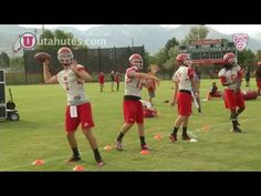University of Utah Football Camp - Day 2. QB Coach Brian Johnson talks about the second day of football camp.