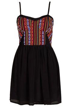 bc7f67c36e2 Mexican Bodice Sundress - Festival - Clothing - Topshop USA Lil Black Dress