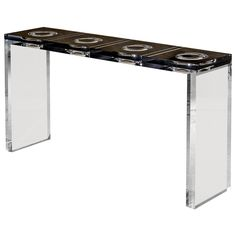Tables. Charly Bounan's Altuglas Console.