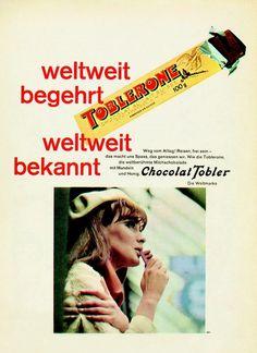 Toblerone Retro poster. Swiss chocolate.