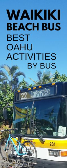 Things to do in Waikiki Hawaii by bus in Oahu, Honolulu. Guide to getting around Waikiki Beach with no rental car. When looking to save money on Hawaii vacation, taking bus to activities - popular hikes, beaches, snorkeling spots. You can go around Oahu including North Shore, Kailua, Lanikai, but it's time! Easy for Waikiki to Pearl Harbor bus. Travel tips for Hawaii on a budget for some budget-friendly adventures to add to itinerary for Waikiki in one week! Bus route 22. #hawaii #oahu…