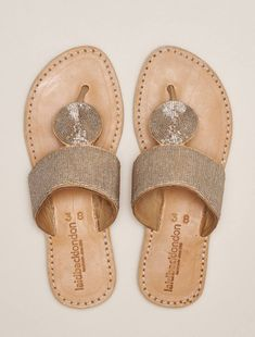 Heron Lp Leather Sandal Silver