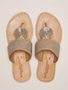 Heron Lp Leather Sandal Silver