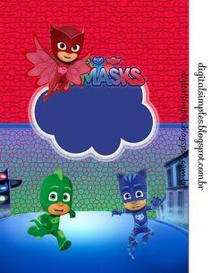 Pj Masks imagenes - decoracion pj masks cumpleaños - stickers pj masks etiquetas